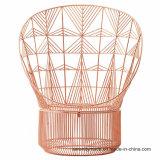 유행 고전적인 여가 공작 금속 와이어 바구니 의자