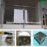 Morsetto di vetro della balaustra della scala dell'acciaio inossidabile