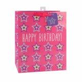 Bolsas de papel rosadas del regalo del departamento de la torta de los cosméticos del alimento del caramelo del cumpleaños