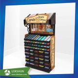 Стеллаж для выставки товаров пола шоколада картона стоящий