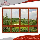 Puerta deslizante del perfil de aluminio de madera del grano para el edificio residencial