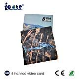 6 Zoll LCD-video Büttenpapier-Gruß-Karte