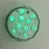 16 lampada subacquea dell'indicatore luminoso del vaso di telecomando di RGB LED IP68 di colori