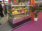 Qualität-Quadrat-Edelstahl-Kuchen-Kühler-Schrank für Gebäck-Bildschirmanzeige