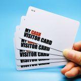 Biglietti da visita astuti di promozione RFID del PVC di HF NTAG213 NFC di alta obbligazione