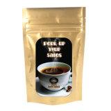 el bolso de café lateral del papel de Kraft del escudete 2lb con Estaño-Ata