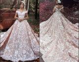 Винты с головкой под рукавами устраивающих Gowns роскошные цветы розового цвета на арабском языке свадебные платья S201757