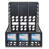 De standaard 3-kolommen Plastic Houder van het Dossier van de Kantoorbehoeften van het Bureau
