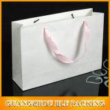 Achats de empaquetage de sac de papier de vêtement fait sur commande