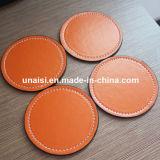 Couvre-tapis rond de cuvette de garniture circulaire en cuir fausse bon marché d'unité centrale Placemat