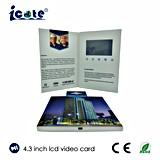 Venda quente! Folheto video da tela do LCD de 4.3 polegadas com alta qualidade