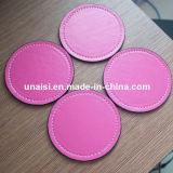 Couvre-tapis circulaire rond en cuir de cuvette de Placemat de caboteur d'unité centrale