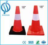 cone alaranjado e vermelho do PVC de 720mm de estrada da segurança