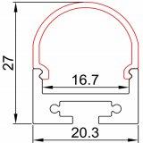Flexible LED Streifen-Lichter des Aluminiumdes profil-LED Streifen-