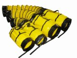 De gele Standaard Vuurvaste Flexibele Buis van pvc met draagt Zak