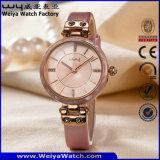 Wristwatch фабрики повелительниц кварца кожаный планки способа (Wy-100A)