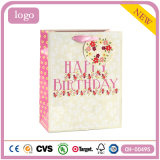 Подарка игрушки одежды настоящего момента цветка дня рождения мешок розового бумажный