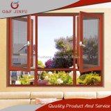 Salto térmico de aluminio estilo americano Casement ventana con la pantalla de insectos