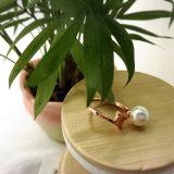 白い真珠が付いているPanyu指リングの製造業者商標の宝石類のリング