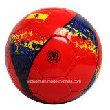 Balón de fútbol de cuero de entrenamiento impreso aduana de la talla 5