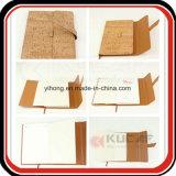 Таможня тетради PU текстуры корпоративного подарка деревянная