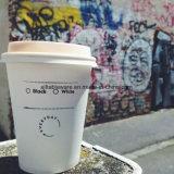 От бумаги с логотипом кофейные чашки с крышками
