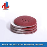 El corindón de color marrón de disco de papel de lija para madera acero inoxidable de piedra
