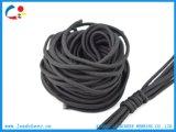 Черный изготовленный на заказ шнур высокого качества для кальсон и мешка