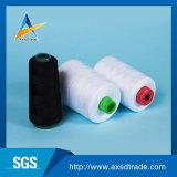 Hilados de polyester 100% blancos sin procesar del negro para el hilo para obras de punto del guante