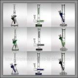 Conduite d'eau en verre droite de pipes de fumage de narguilés de plate-forme pétrolière de croix de tube d'Illadelph