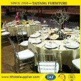 Resina de cristal desobstruída Stackable Tiffany de Transparant que Wedding a cadeira de Chiavari
