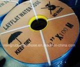 Manguito reforzado PVC de Layflat de la irrigación de la granja de la agricultura