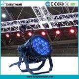 La DMX 18pcs 10W RGBW 4en1 conduit par la lumière peut l'étape