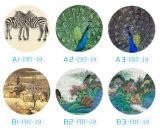 2017 круглых протягиванных печатей ландшафта холстины изготовленный на заказ с сильным цветом