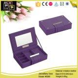 BSCIの証明書(5985)が付いている高品質のカスタム革宝石類の包装ボックス