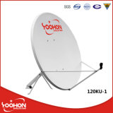 1.2M C/Ku Band Satellite antenne parabolique avec la CE