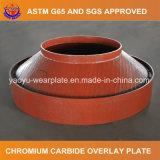 Carboneto de crómio de Desgaste da Placa da tampa de proteção