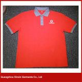 L'ajustement sec respirable de la meilleure vente a mélangé la chemise de polo brodée par couleurs d'hommes et de femmes (P03)