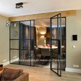 Porta interior em estilo francês com vidro temperado e Vedação de Borracha