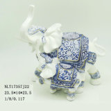 Figurine decorativo dell'animale della statua dell'elefante del ricordo della resina all'ingrosso degli ornamenti della fabbrica