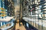 Установленный стеной вися шкаф Stemware шкафа стекла вина металла