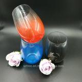 Tasse acrylique de vin d'espace libre en plastique de cuvette de polycarbonate
