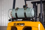 XCMG 2 carretilla elevadora del gas del LPG de la gasolina del motor de Nissan K25 de la tonelada
