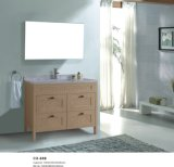 100cm largamente Governo di stanza da bagno del PVC dei quattro cassetti con colore di legno del grano