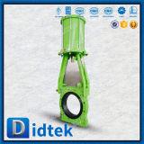 Didtek GGG40 Borracha Natural da Faca do Assento da Válvula de Gaveta com atuador pneumático de Dupla Ação