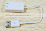 Cable adaptador de sonido USB 2.0 de alta calidad de canal 7.1