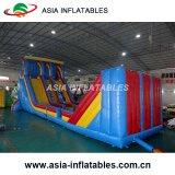 Obstáculo inflável com combinação de slides