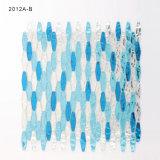 海のシャワーBacksplashのための青いガラスモザイク・タイルシート