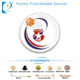 Personalizados fabricante de hojalata de metal redondo el botón Pin distintivo blanco de 58 mm de la Organización del Corazón de papel de impresión CMYK estampado plástico insignia de estaño para regalos promocionales