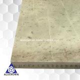 Panneaux en aluminium de nid d'abeilles de couleur de placage blanc de marbre pour le revêtement de mur